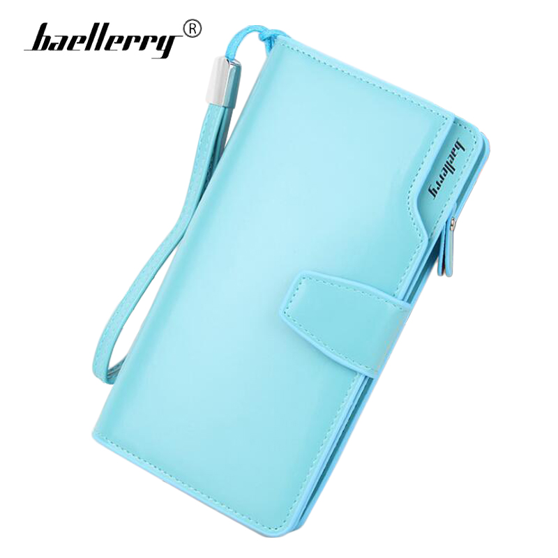 Baellerry Long Wallet Women TOP PU Leather Fashion Women Wallets Card Holder Clutch Phone Bag Coin Pocket Purse Female Wallet wallet