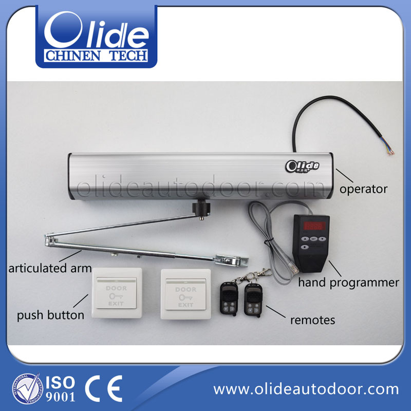 Handicap Door Opener, Commercial and residential handicap door operators with wireless or wire push button