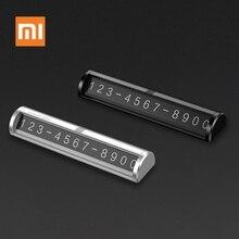 Xiaomi Mijia Guildford soporte para teléfono coche número de aparcamiento parabrisas delantero pegatinas para tarjetas temporales DIY imán número de teléfono