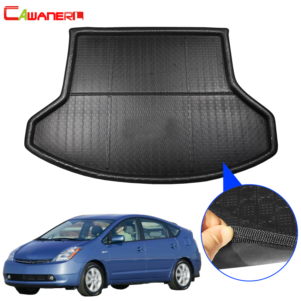 Cawanerl Car Rear Boot Tray Liner Trunk Mat Floor Cargo Mud Luggage Carpet Protector Pad Accessories For Toyota Prius 2008-2012