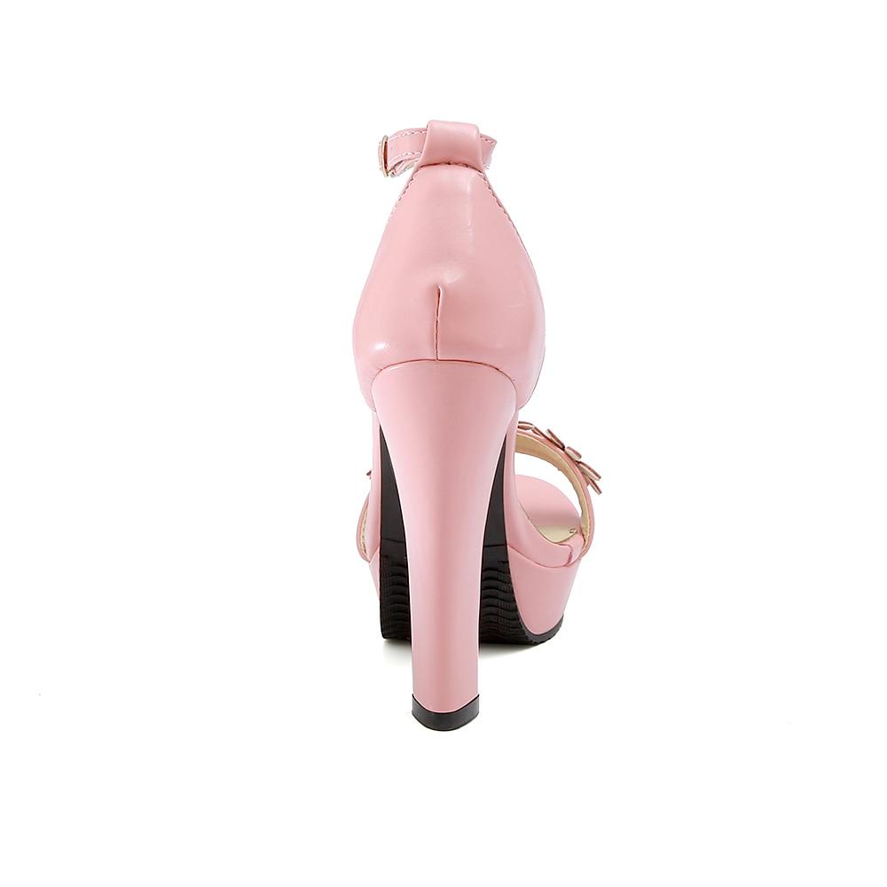 Estrenar Oficina Talón Zapatos 43 Mujeres Blanco Alto pink Grande white Venta Rosa Plataforma Cómoda Tamaño Dulce W910 A De 32 10 Sandalias Apricot Señora Más dOwPqR
