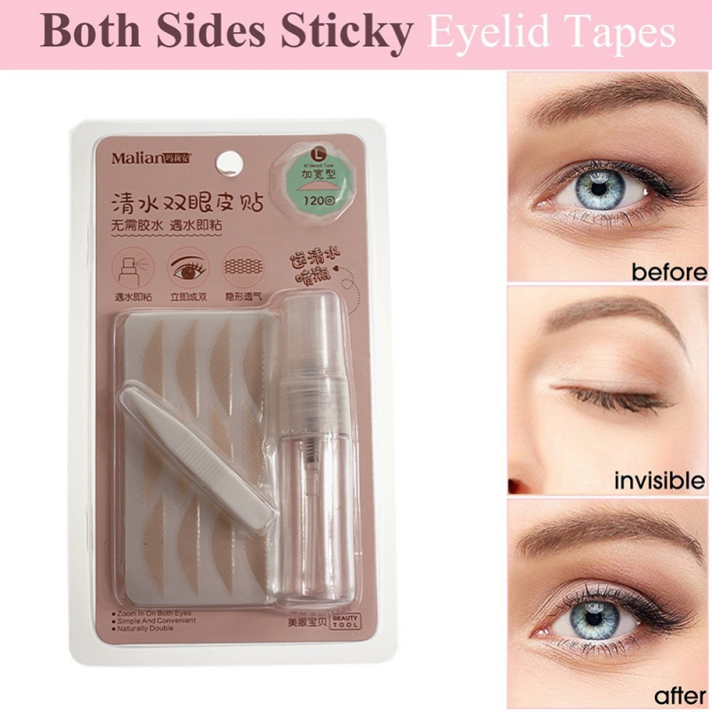 120 Pairs Double Eyelid Fiber Tape Gauze Mesh Lace Stick Stealth Double-fold Eyelid Sticker Without Glue NEW
