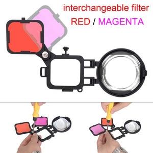 Image 5 - 3in1 액션 카메라 다이브 필터 gopro hero 7 6 5 용 16x 매크로 렌즈로 설정 블랙 수중 다이빙 레드 마젠타 다이브 렌즈 필터