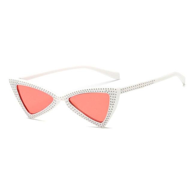 13b54378263 Triangle Sunglasses Women New Rhinestone Butterfly Frame Cat Eye Sun ...