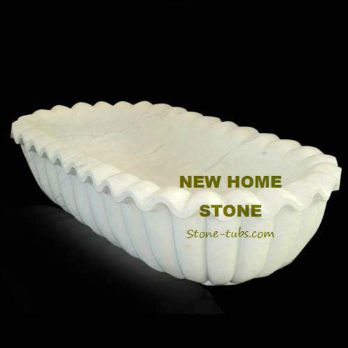 Stone Freestanding Bath Sea Shell Style white marble bath tub 2015 NEWHOMESTONE company on sale product at a great low price tub