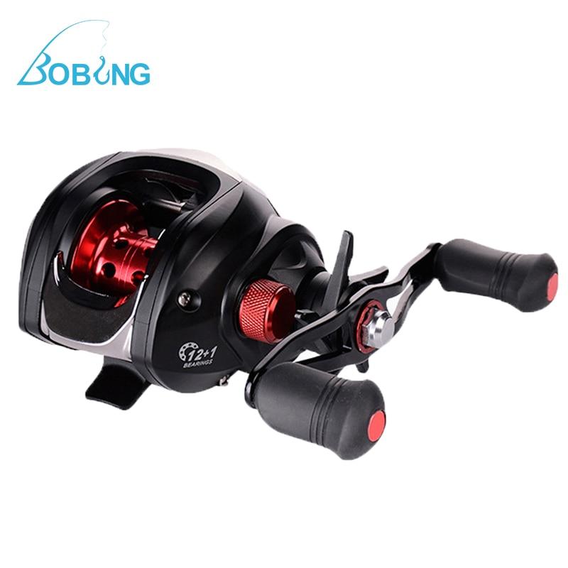 Bobing Magnetic Brake 12+1BB 6.3:1 Baitcasting Fishing Reel 4.5kg Drag Left Right Hand Water Drop Fishing Wheel Lightweight