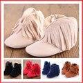 Детские Мокасины Новорожденных Baby Girl Boy Дети Prewalker Сплошной Бахромой Обувь Младенческой Малыша Мягкой Подошве Anti-slip Сапоги Пинетки 0-1год