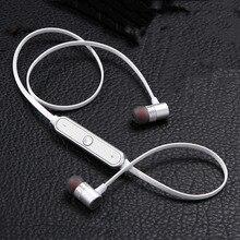 Deportes de Metal Imán Auricular Inalámbrico Bluetooth V4.0 Auriculares Sweatproof Auriculares Estéreo Auriculares Manos Libres MIC Para la PC Del Teléfono IPOD