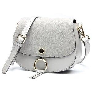 Image 4 - 2017 Brand Designer Mini Women Bag High Quality Genuine Leather Shoulder Bags Spring Small Casual Handbag Brown Blue Color