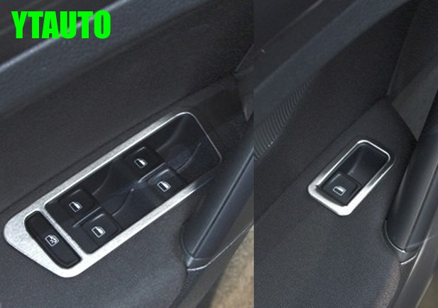 Auto inerior accessories window lift switch button trim for volkswagen vw golf 7 2014 2015 car