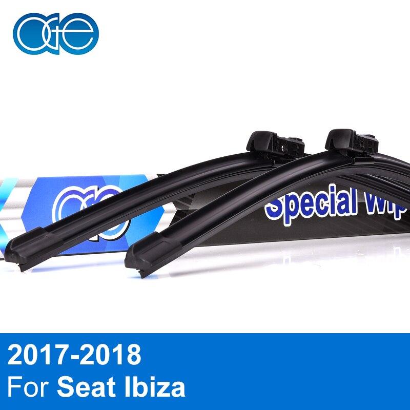 OGE Dianteiro E Traseiro Wiper Blades Para Seat Ibiza 2017 2018 Windscreen Windshield Car Auto Acessórios de Alta Quantidade de Borracha Natural