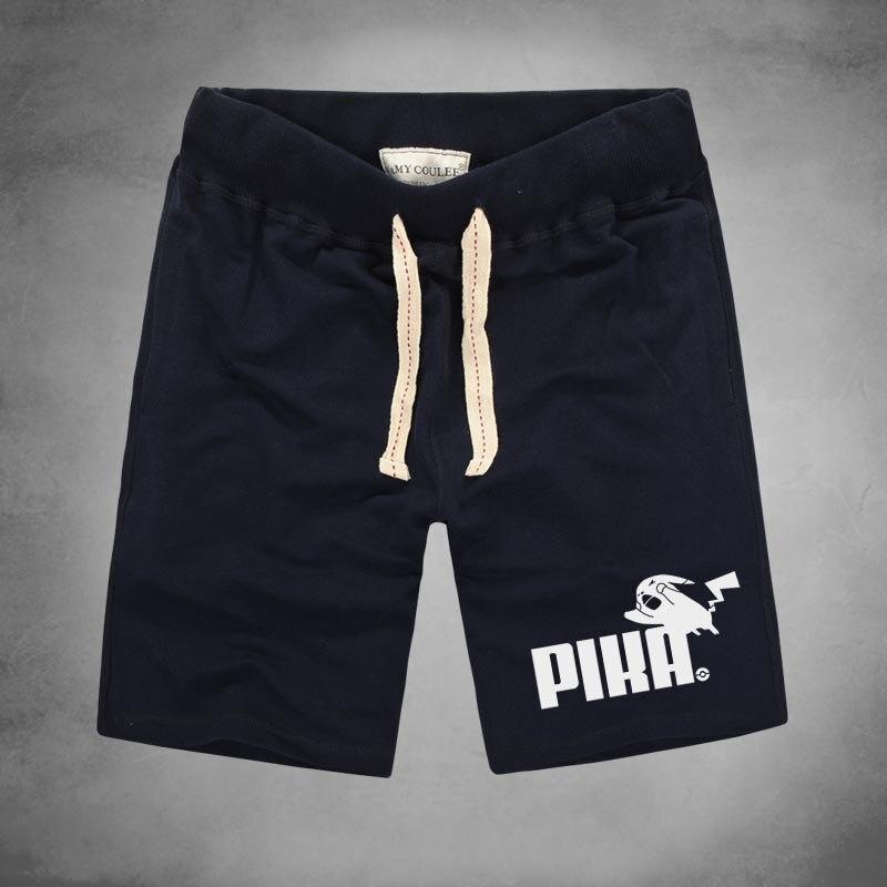 Japanese Anime Men Shorts Summer Beach Short Pants Pokemon Pikachu Shorts Plus Size Cotton Shorts Fashion Men's Clothes Durable