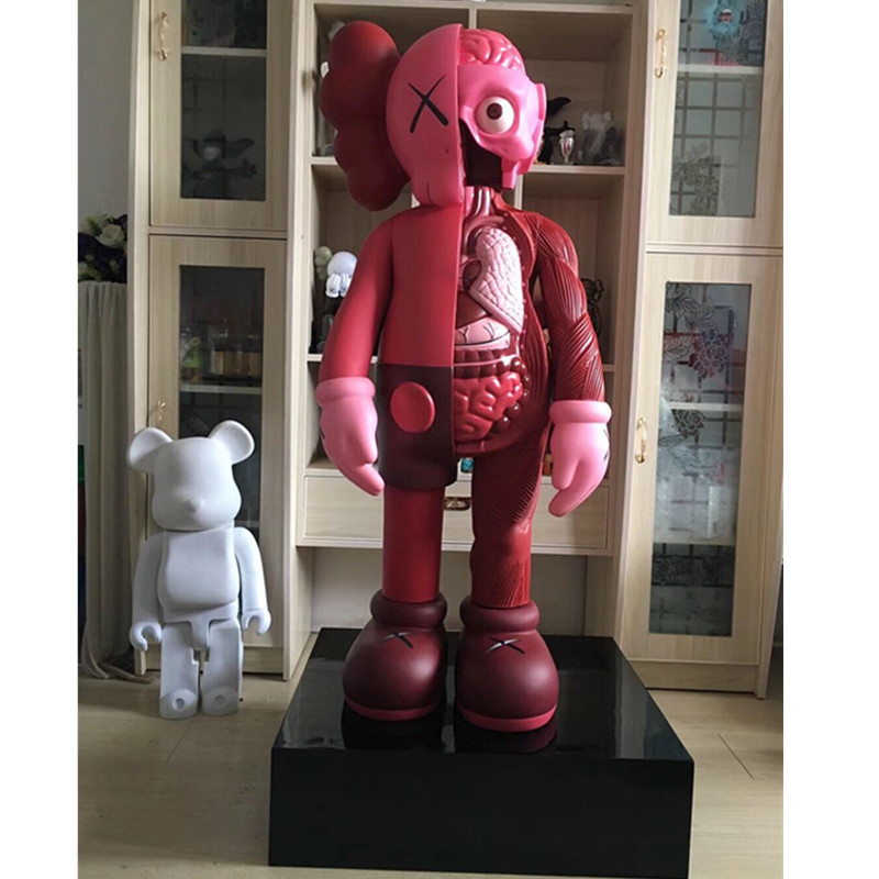 130CM KAWS 4FT OriginalFake Brian BFF China Red Dissected Companion Street Art PVC Action Figure Model Ornaments X1127130CM KAWS 4FT OriginalFake Brian BFF China Red Dissected Companion Street Art PVC Action Figure Model Ornaments X1127