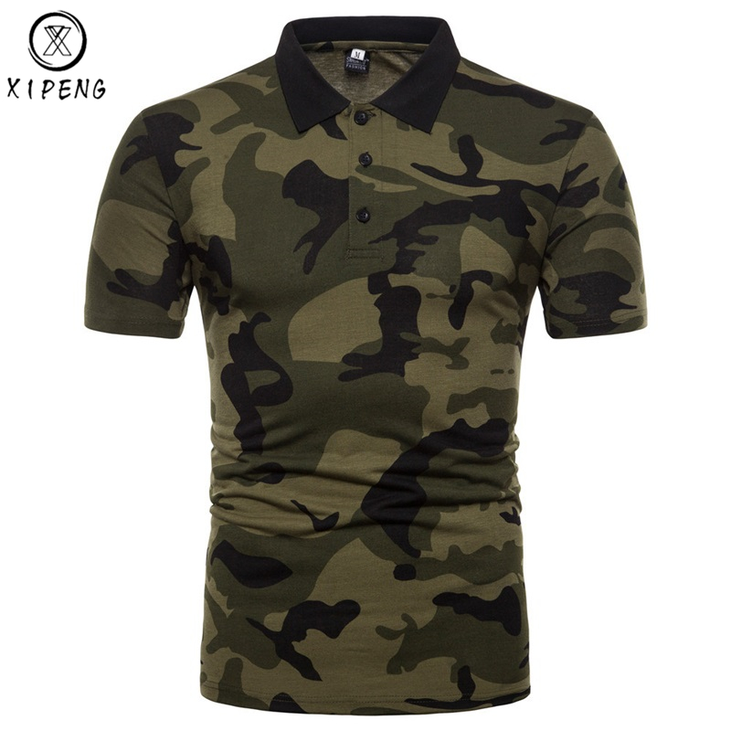Men's Brand Camouflage   Polo   Shirt 2019 New Mens   Polo   Shirts Casual Slim Fit Classic   Polo   Homme Army Green Camisa   Polo   Masculina