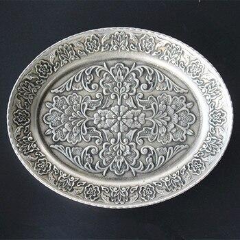 TNUKK  A collection of rich dishes on silver gilt copper retro crafts.