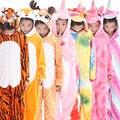 Kids Unicorn Pajamas for Girls Boys Pijamas Winter Cartoon Animal Children Kigurumi Pyjamas 2019 Teen Cosplay Onesie for 4 - 12T