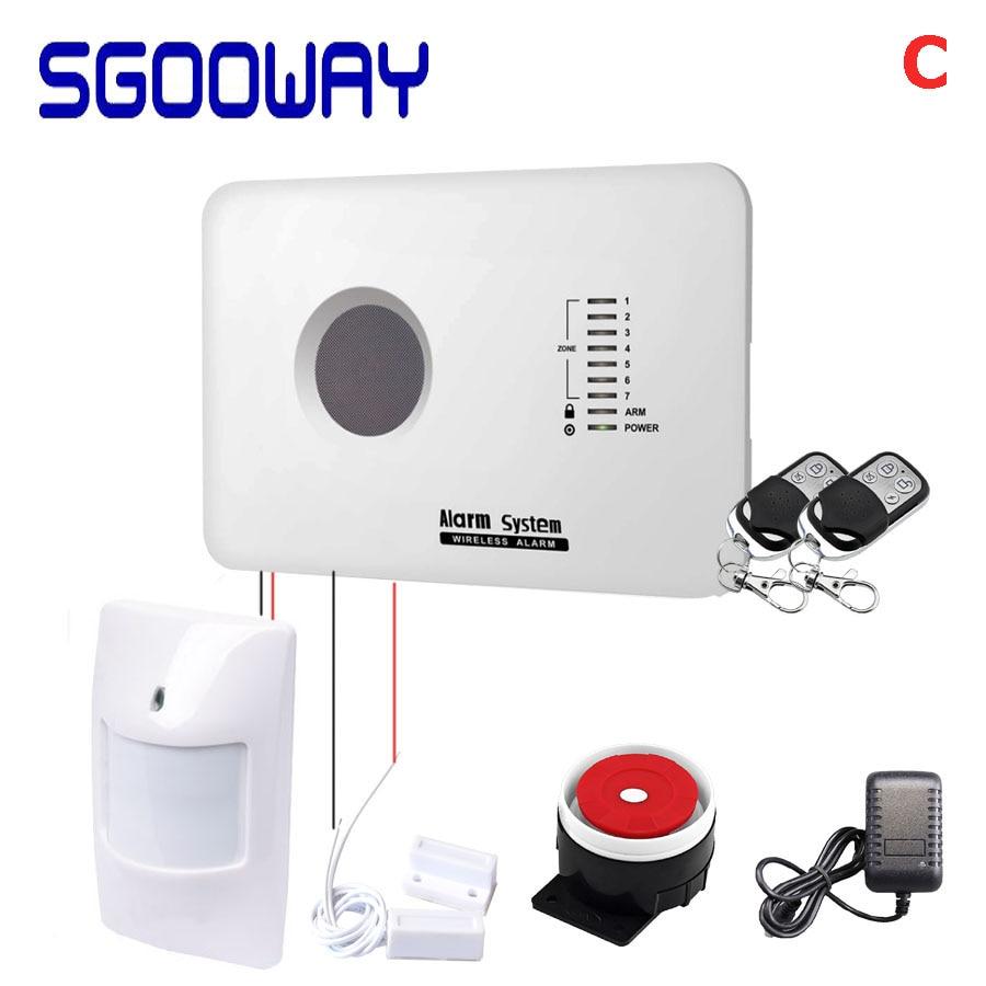Sgooway sistema de alarme de segurança, sensor de movimento sem fio gsm com aplicativo android e ios
