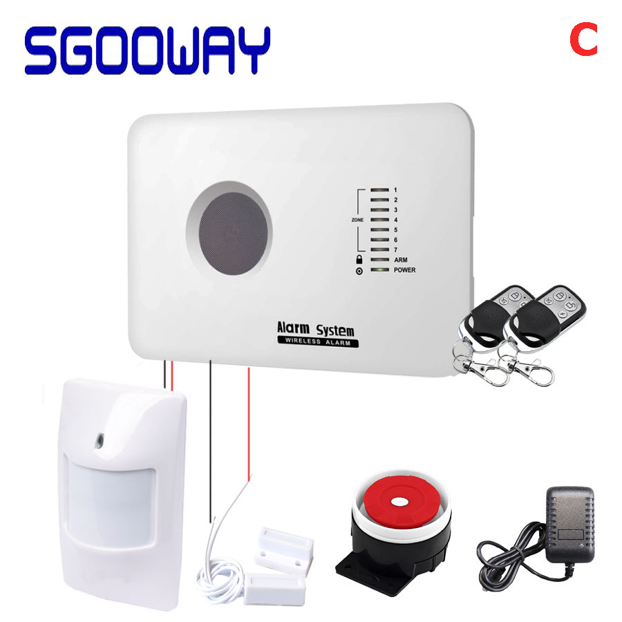 Sgooway wireless motion sensor gsm security wireless smart security alarm system with Android& ios APP image