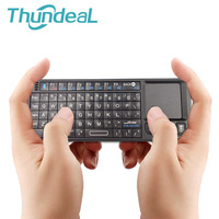 Newest Bluetooth Keyboard Mini Wireless Mouse Launcher Lightweight Built in battery Dongle Touchpad For Smart TV Box PC Laptop