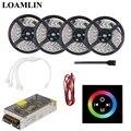 Светодиодная гибкая лента RGB SMD2835/3528 с сенсорной панелью RGB  светодиодный контроллер  комплект питания для драйвера 5 м 10 м 15 м 20 м