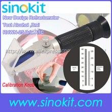 Вино: 0-25% VOL, 0-40% Brix дизайн калибровки ручка рефрактометр с CE RHWN-25 Brix ATC