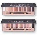 2016 Marca Maquiagem Cosméticos Glitter Shimmer Matte Paleta Nu Maquiagem 12 Cores Da Paleta Da Sombra Nus Fosco Sombra de Olho