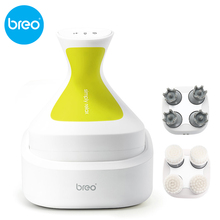 Breo wireless Scalp massager Waterproofing Head massager Prevent hair loss Promote hair growth with brush head 4d smart head massager electric head scalp massager handheld shampoo hair brush promote blood circulation hair growth 4 heads