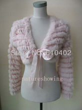 Free shipping/2013 New style  Real rabbit fur knitted coat/jacket/vest/ Short jackets/pink