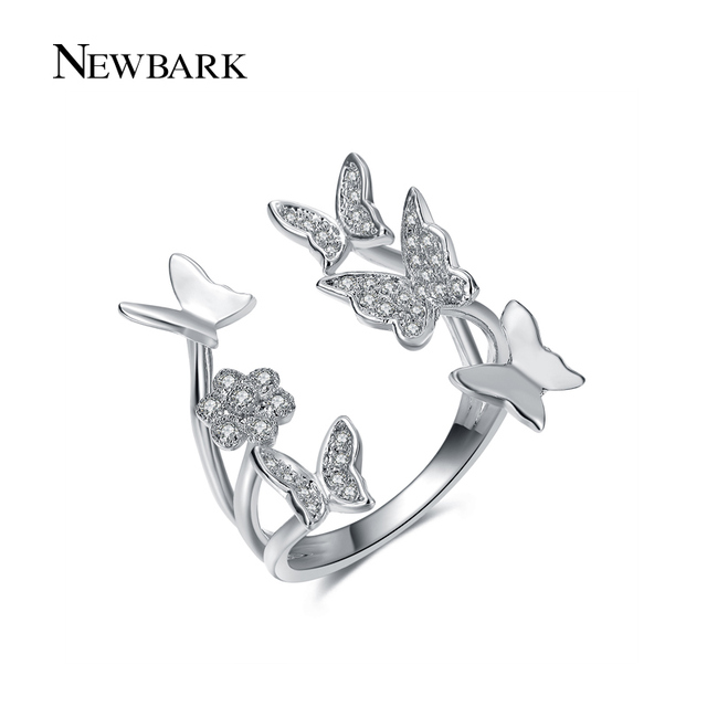 Butterfly Ring Rose Gold Plated