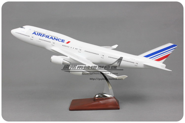 47cm Air France boeing 747 Resin Airplane Model French B747-400 Airlines Airways 2018 International Aircraft Model Souvenir Gift 47cm air united states of america airlines air force one boeing b747 plane model aircraft airways airplane model