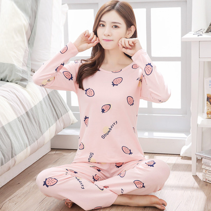 Yidanna pajamas set for women milk silk fabric sleep clothing long sleeve  pyjama suit autumn nightie 103136a83