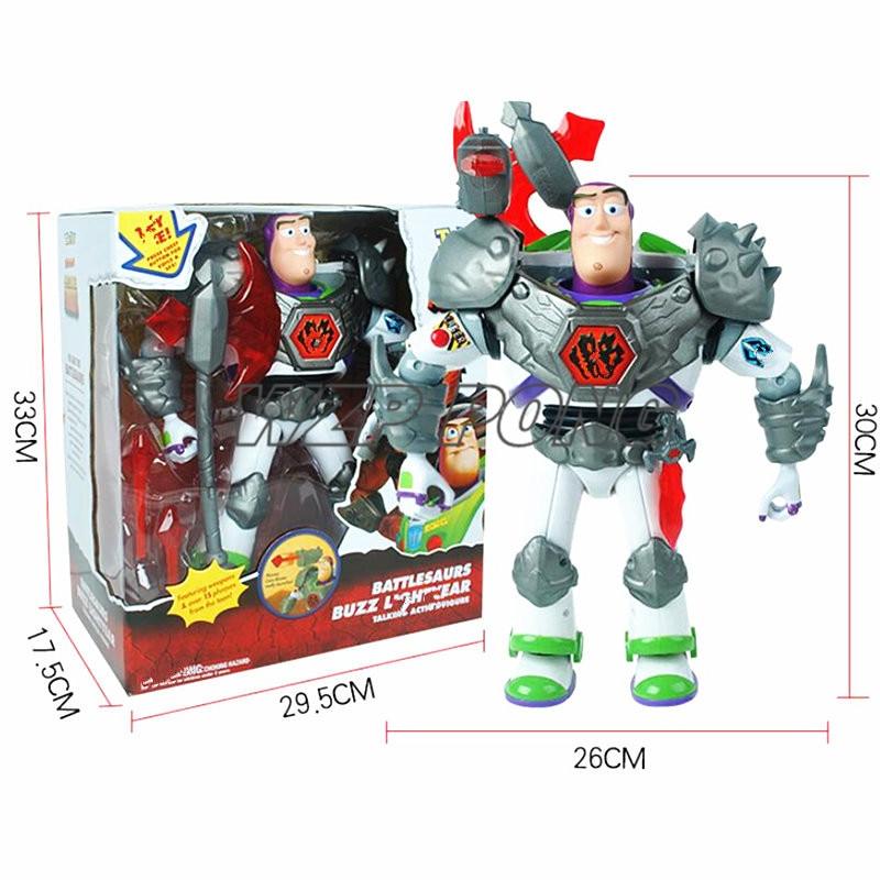 Nouvelle histoire de jouets 3 figurines Action Buzz Lightyear bataille Ver voix parler anglais modèle jouets Collection enfants cadeaux 30 cm