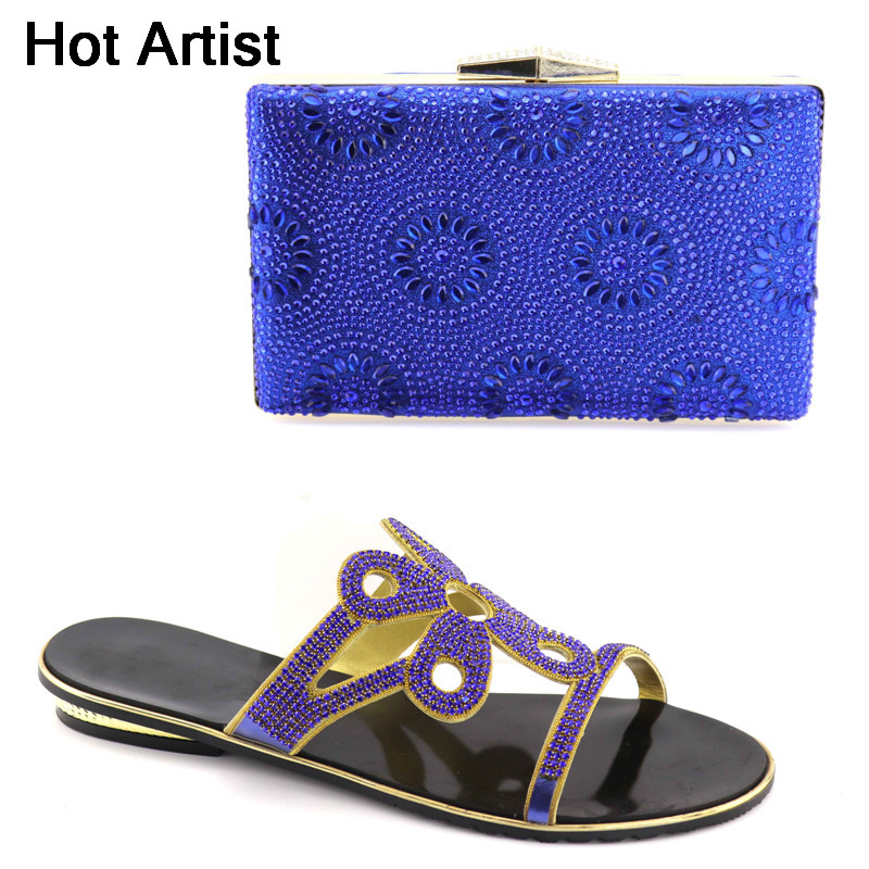 Hot Artist Latest African Shoes And Bag Set For Party High Quality Italian Low Heels Shoes And Bags To Match Women Shoes YK-011 2016 italian shoes with matching bags for party high quality african shoes and bags set for wedding
