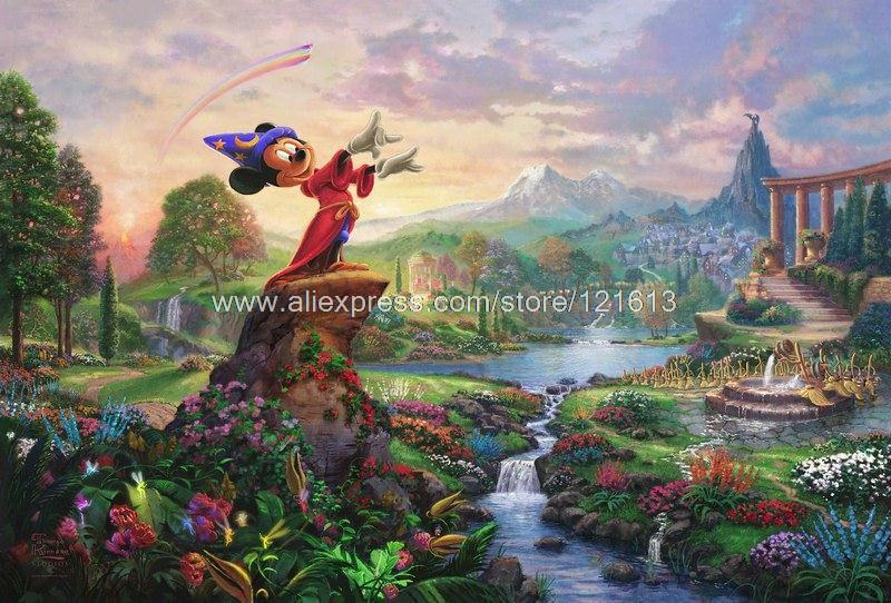 Thomas kinkade prints original art fantasia oil painting - Home interiors thomas kinkade prints ...