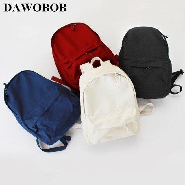 232eecd653b4 2018 Canvas Pure Color School Backpack For Adolescent Girl Female Best  Travel Women Backpack Shoulder Bag Rucksack Mochila