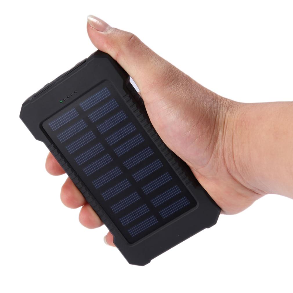 Tollcuudda 10000 mah banco de potencia de iluminación led de energía solar del t
