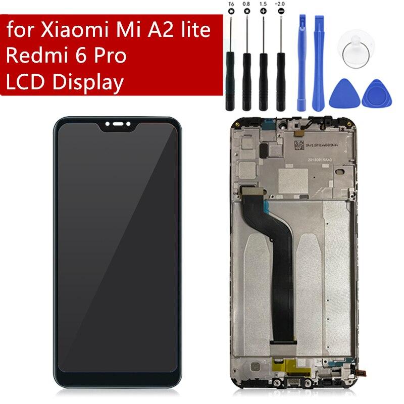 D'origine Pour Xiao mi Rouge mi 6 Pro/mi A2 Lite LCD Avec Écran Tactile Cadre Digitizer Pour Xiao mi mi A2 lite Affichage Remplacement