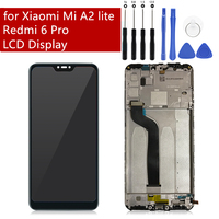 Original For Xiaomi Redmi 6 Pro/ Mi A2 Lite LCD With Frame Touch Screen Digitizer For Xiaomi Mi A2 lite Display Replacement