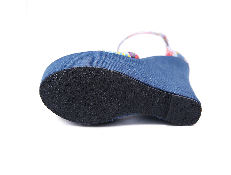HTB1b3mtBOCYBuNkHFCcq6AHtVXag Eilyken 2019 New Designer Print Denim Sandals Roman Sandals High Quality Wedges High Heels Peep-Toe Platform Shoes Woman