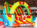 Customized  4.5 meters high commercial grade jungle inflatable slide for sale free shipment by sea