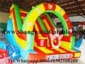 Personalizar 4.5 metros de alta calidad comercial selva tobogán inflable para la venta libre del envío por vía marítima
