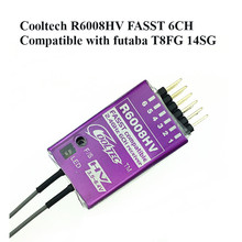 Récepteur Cooltech R6008HV 6 canaux Compatible avec Futaba T8FG 14SG pour Drone FPV modèle RC