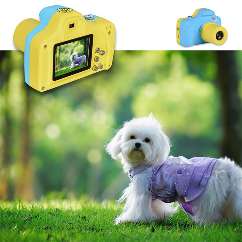 Education Toy Camera Digital For Kids Cartoon Cute Children Mini Digital Camera Toys With DIY Stickers Birthday Gift Creative