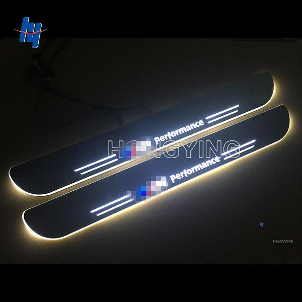 2PCS Car LED Moving Door Sill Guards Stainless Steel Scuff Plate Welcome Pedal For BMW F20 1 F22 4-Door 2 3 F30 F35 F34 GT free ship rear door of high quality acrylic moving led welcome scuff plate pedal door sill for 2013 2014 2015 audi a4 b9 s4 rs4