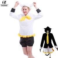 ROLECOS Vocaloid Kagamine Len/Rin Mèo Neko Hoodie Với Câu Chuyện Tai Cosplay Costume Full Set cc1916a