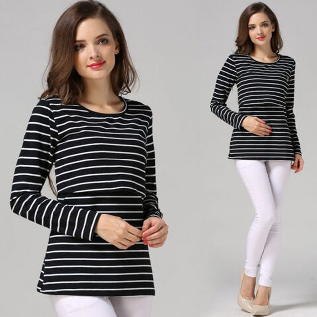 Fashion Maternity Clothes Maternity Tops/ t shirt Breastfeeding shirt Nursing Tops pregnancy clothes for pregnant women hot sale