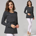 Moda de Maternidad Ropa de Maternidad Tops/camiseta camisa De Enfermería Lactancia Materna Tops para las mujeres embarazadas de la venta caliente