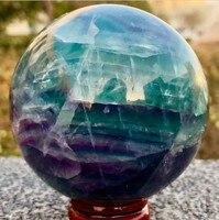 60mm DOĞAL Fluorite kuvars kristal küre topu şifa