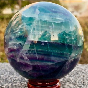 60mm NATURAL Fluorite quartz crystal sphere ball healing