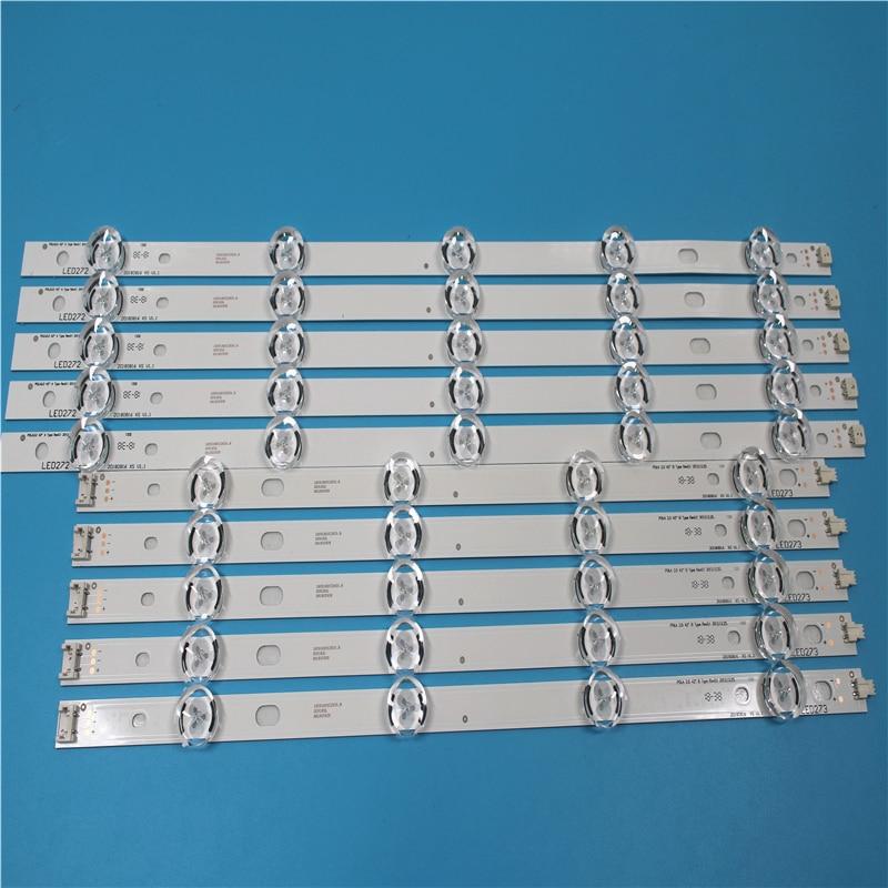 5set=50pcs LED Backlight Strip For LG 42 Inch TV INNOTEK POLA2.0 42 Rev0.1 Pola 2.0 T420HVN05.0 42LN5400 42LN5300 T420HVN05.2